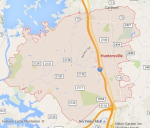 huntersville-north-carolina-home-search-map