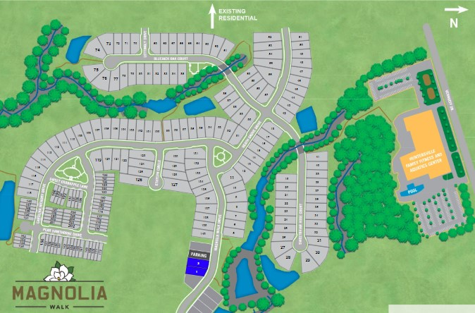 Magnolia-Walk-Homes-Huntersville-NC-Site-Map